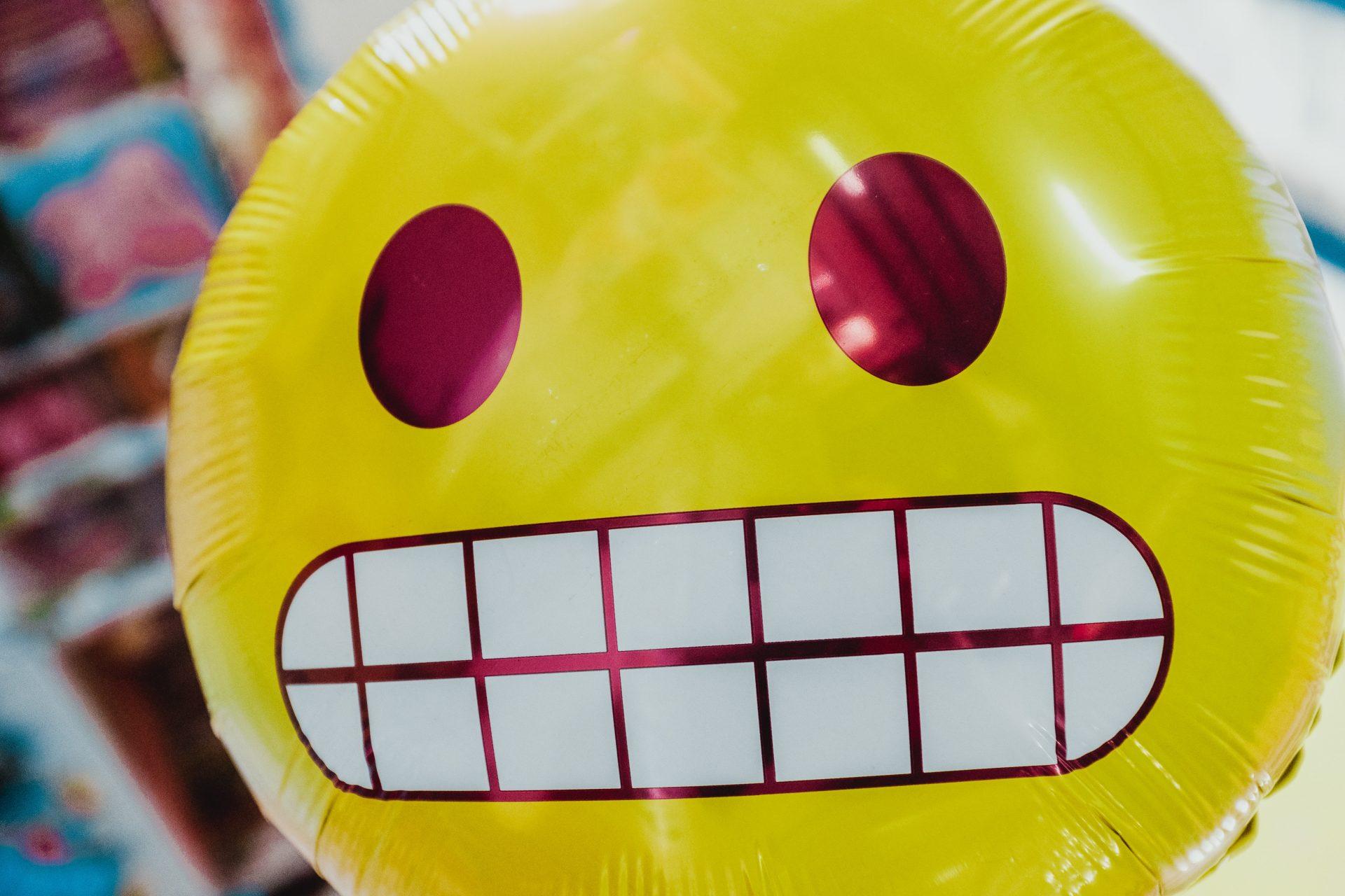 Balloon grimacing